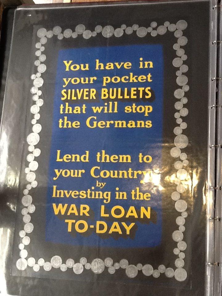 World War 1 Savings Loan poster (1915)