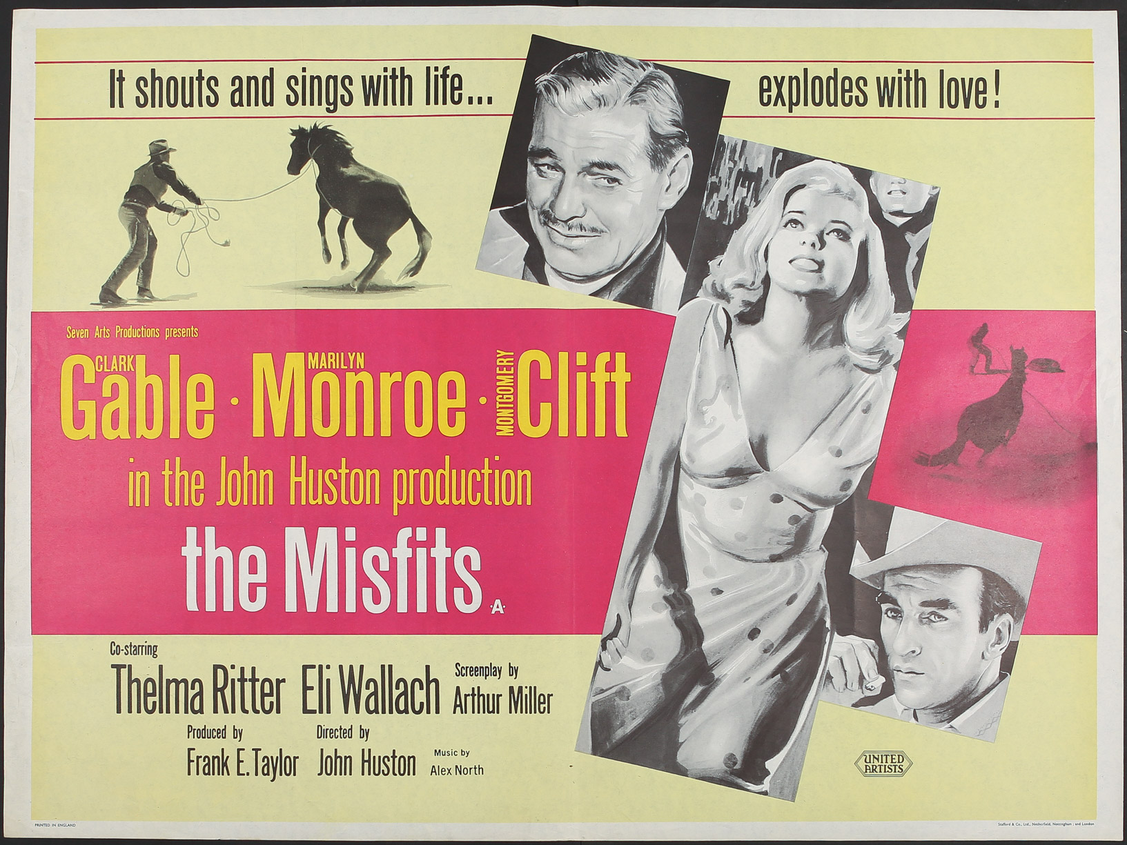 Original film poster: The Misfits (1961) : Pleasures of Past Times