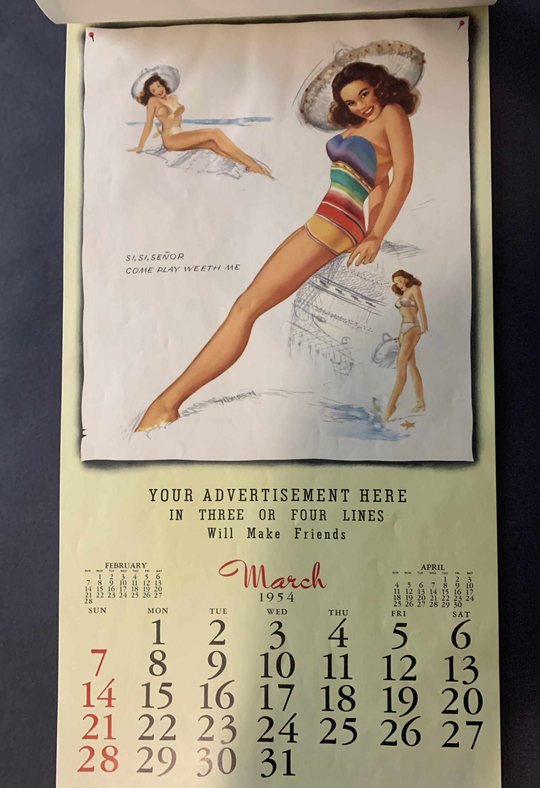 Marilyn Monroe Golden Dreams 1953/4 illustrated calendar