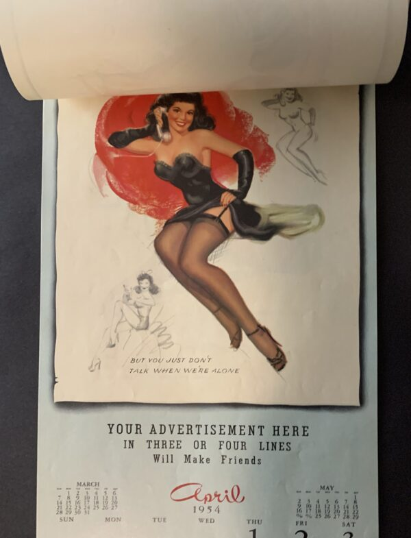 1953 ORIGINAL RISQUE PRE FAME MARILYN MONROE GOLDEN DREAMS